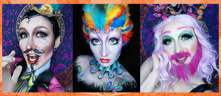 Circus Characters Makeup and Hair