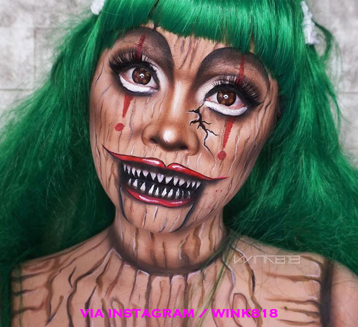 Creepy Doll Scary Halloween Makeup