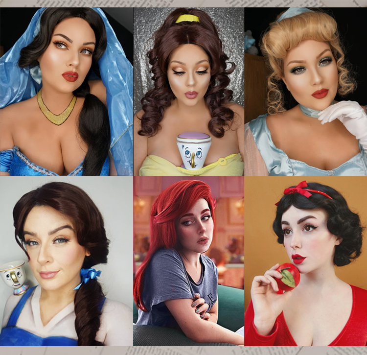 Disney Princess Cosplay Wigs UK