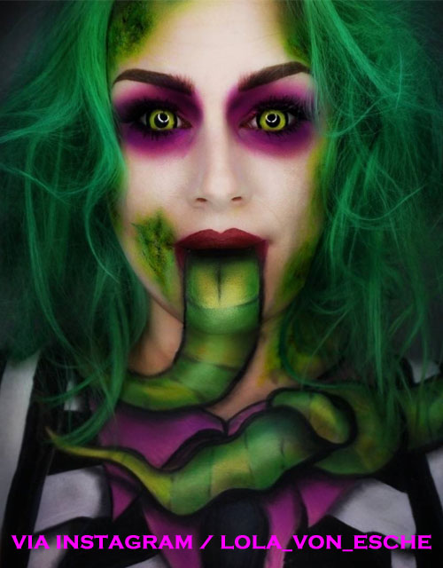 Female Beetlejuice Makeup