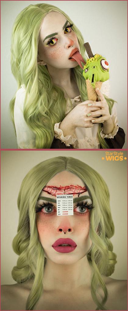 Halloween Wigs Green
