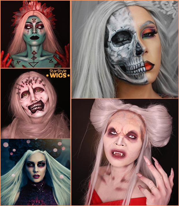 Halloween Wigs Grey