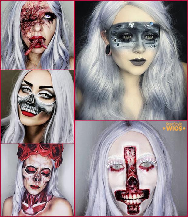 Halloween Wigs Silver