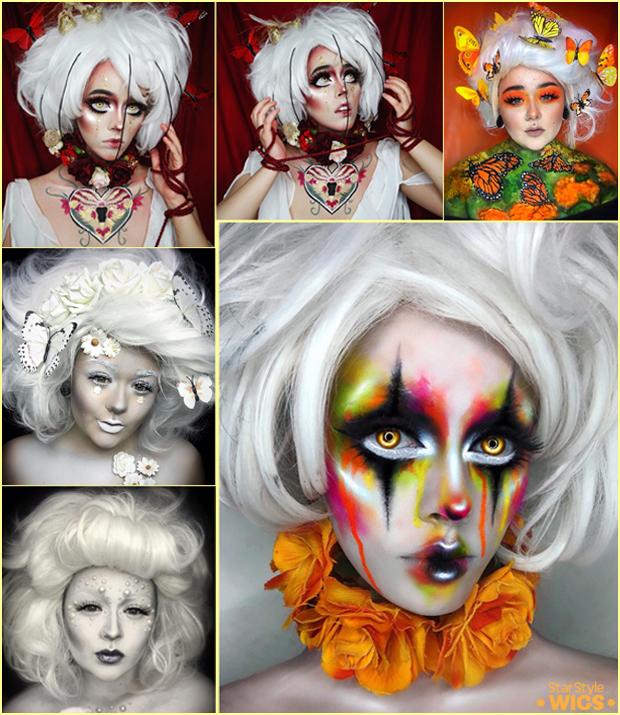 Halloween Wigs White
