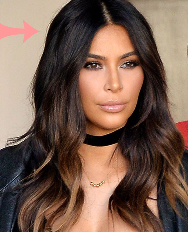 Kim Kardashian Ombre Hair Colour