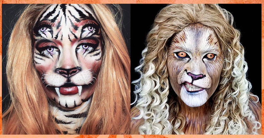Lion Wig Hair and Makeup