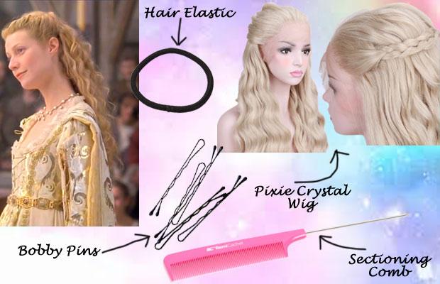 Medieval Princess Hair Wig