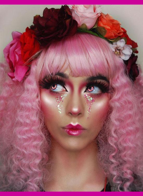 Pink Wig Tight Curls