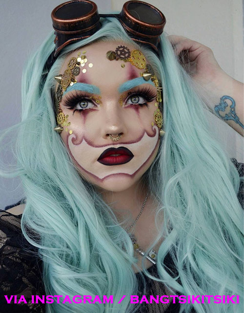 Steampunk Makeup Pastel Green Hair