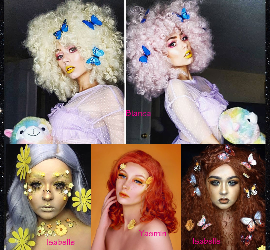 Wig Styling With Butterfly Flower Hair Clips